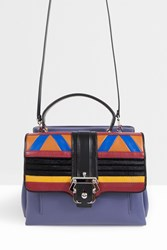 Paula Cademartori Leather Patchwork Chain Bag Multi