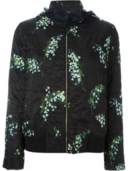 Moncler Gamme Rouge 'Iris' Patterned Jacket Black