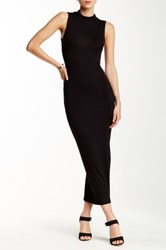 Blvd Mock Neck Midi Dress Black