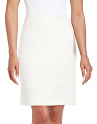 Tahari By Arthur S. Levine Petite Knit Pencil Skirt White