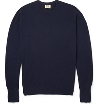 Oxton Cashmere Crew Neck Sweater Blue