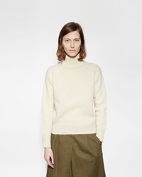 Mhl By Margaret Howell Roll Neck Sweater Ecru