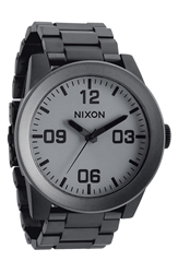 Nixon 'The Corporal' Bracelet Watch Gunmetal