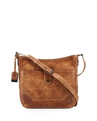 Melissa Button Crossbody Bag Beige Women's Frye