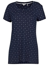 Fat Face Tri Geo Print Swing Tee Navy