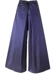 Daniela Gregis Tie Fastening Wide Leg Palazzo Trousers Pink And Purple