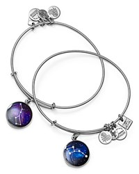 Alex And Ani Big And Little Dipper Expandable Wire Bangles Set Of 2 Rafaelian Silver