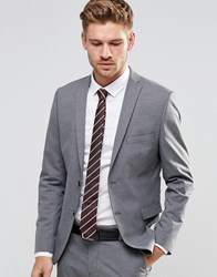 Selected Homme Suit Jacket With Stretch In Slim Fit Mid Grey