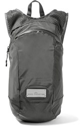 Adidas By Stella Mccartney Shell And Mesh Backpack Anthracite