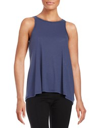 Free People Long Beach Ribbed Tank Top Purple