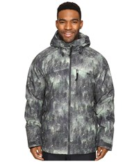 O'neill Proton Jacket Green All Over Print Men's Coat Gray