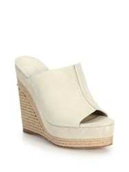Michael Kors Charlize Suede Espadrille Wedge Sandals