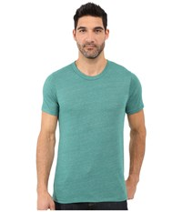 Alternative Apparel Eco Crew T Shirt Eco True Aqua Teal Men's T Shirt Blue