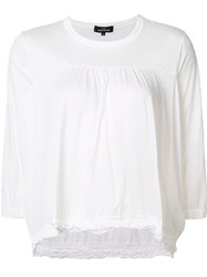 Comme Des Garcons Tricot Gathered Detail T Shirt White