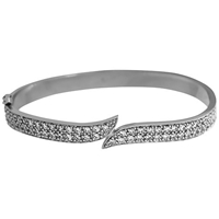 Jools By Jenny Brown Cubic Zirconia Pave Meeting Ends Bangle