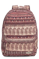 Billabong Junior Women's 'Hand Over Love' Backpack Burgundy Mystic Maroon