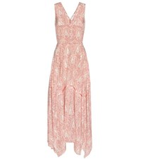 Altuzarra Paisley Printed Silk Dress Pink