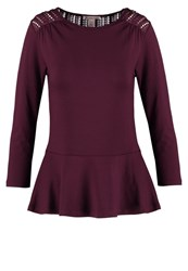 Anna Field Long Sleeved Top Port Royal Bordeaux
