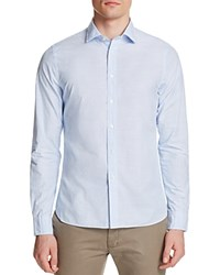 The Men's Store At Bloomingdale's Microstripe Classic Fit Button Down Shirt Light Blue Stripe