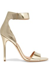 Halston Marley Metallic Leather Sandals