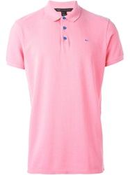 Marc By Marc Jacobs Embroidered Chest Logo Polo Shirt Pink And Purple