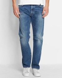 Carhartt Faded Raw Blue Oakland Edgewood Straight Fit Jeans