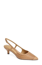 Trotters 'Kimberly' Woven Leather Slingback Pump Women Tan