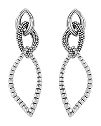 Lagos Sterling Silver Fluted Caviar Bead Dangle Earrings