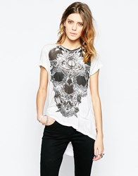 Religion Valer Skeleton Print T Shirt White