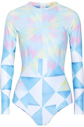 Mara Hoffman Printed Rash Guard Sky Blue
