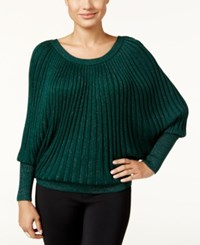Thalia Sodi Dolman Sleeve Metallic Sweater Only At Macy's Dark Forest