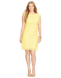 Lauren Ralph Lauren Plus Lace Bateau Dress