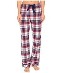 Jockey Flannel Plaid Long Pants Holiday Tartan Women's Pajama Red