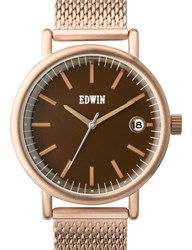 Edwin Watch Gold With Brown Dial Epic