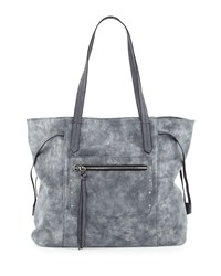 Violet Ray Oversized Metallic Tote Bag Pewter Silver