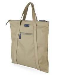 Estime Khaki Grey 6To8 3 Nylon And Leather Briefcase
