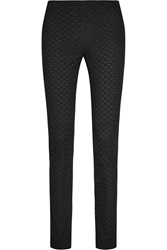 Missoni Crochet Knit Jersey Skinny Pants Black