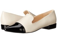 Nine West Trainer Off White Black Leather Women's Flat Shoes
