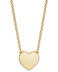 Studio Silver 18K Gold Over Sterling Silver Heart Pendant Necklace