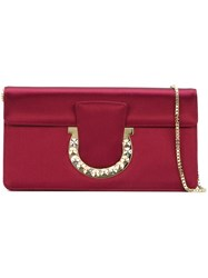 Salvatore Ferragamo 'Sabine' Clutch Red