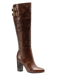 Isola Cerelia Knee High Leather Boots Brown