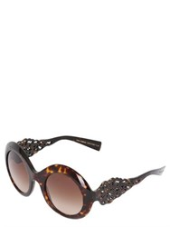 Dolce And Gabbana Spain Sicily Acetate Round Sunglasses