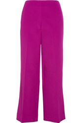 Opening Ceremony Crepe Wide Leg Pants Purple