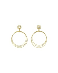 18K Gold Hawaii Circle Drop Earrings Buccellati