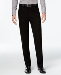 Alfani Red Modern Stretch Flat Front Pants Only At Macy's Deep Black