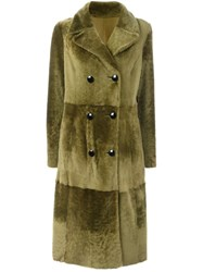 Drome Panelled Coat Green
