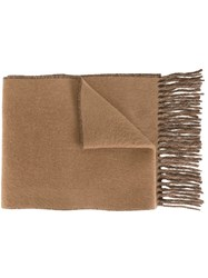 Polo Ralph Lauren Fringed Scarf Brown