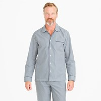 J.Crew Cotton Poplin Pajama Set In Blue And Green Stripe