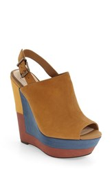Jessica Simpson Women's 'Radina' Wedge Sandal Honey Brown Nubuck