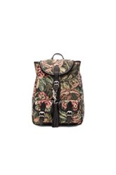 Saint Laurent Small Floral Tapestry Festival Backpack In Green Floral